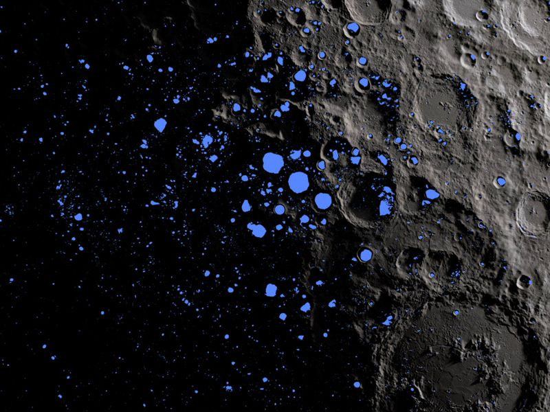 how much water is on the moon daily planet air space magazine