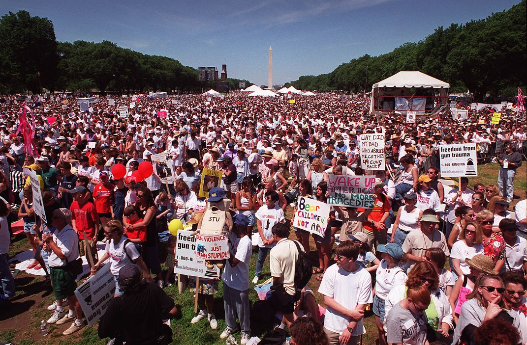 Million Mom March demonstration on the National Mall