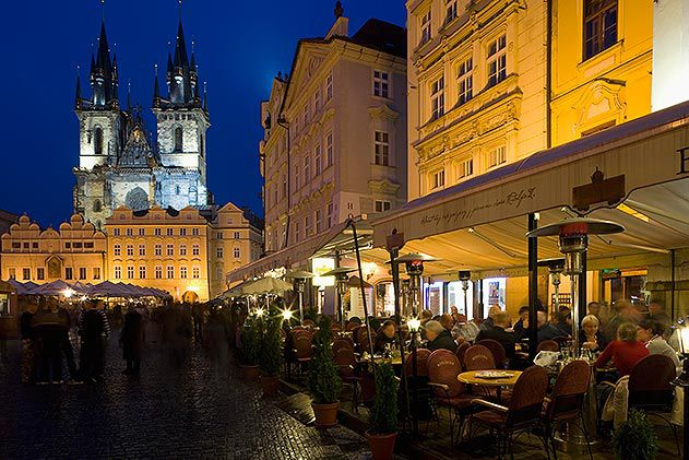 Cafe Restaurant Old Town Square Church of our Lady Prague