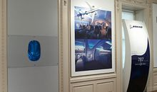 Part of the Dreamliner, on display at the Cooper-Hewitt.