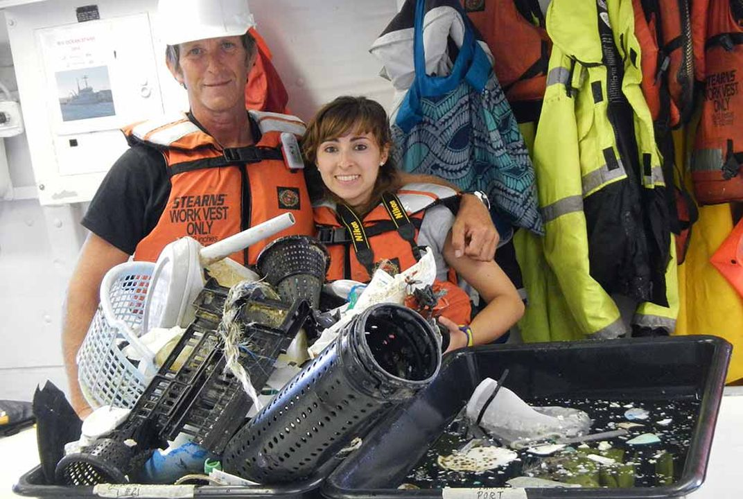 Scientists and volunteers track trash in ocean