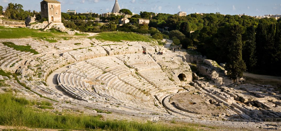 The Greco-Roman Theater at Syracuse