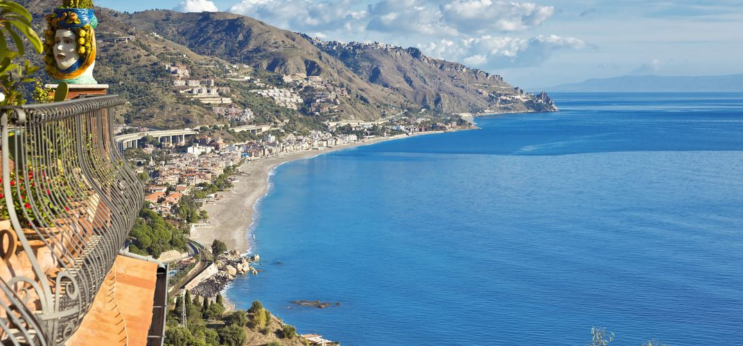 Coastal view near Taormina