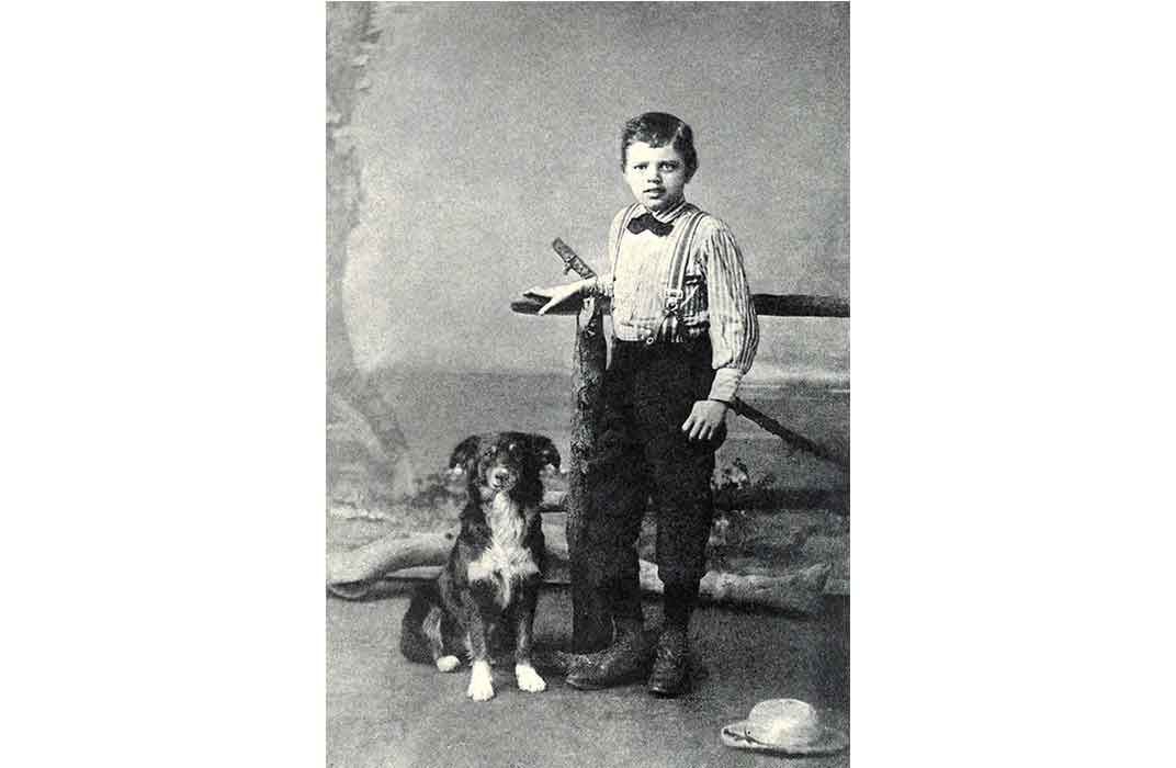Jack London and his dog Rollo, 1885