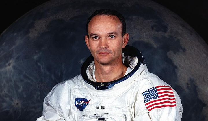Michael Collins' NASA astronaut portrait.