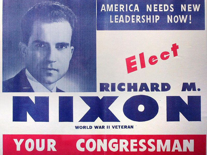 Election flyer/poster distributed on behalf of Richard Nixon's campaign for Congress, 1946