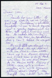 A letter from Operation Desert Storm.