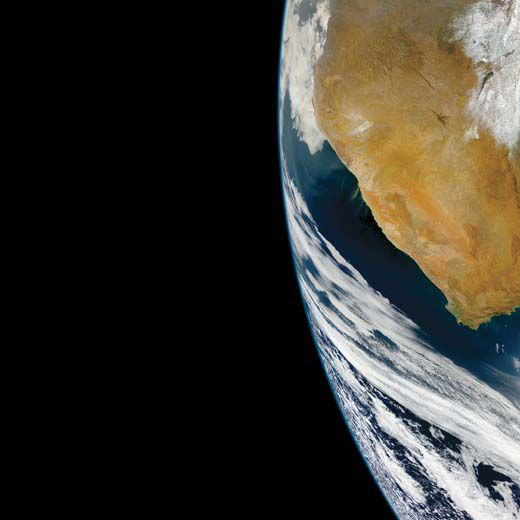 South Africa as seen from the OrbView 2 satellite