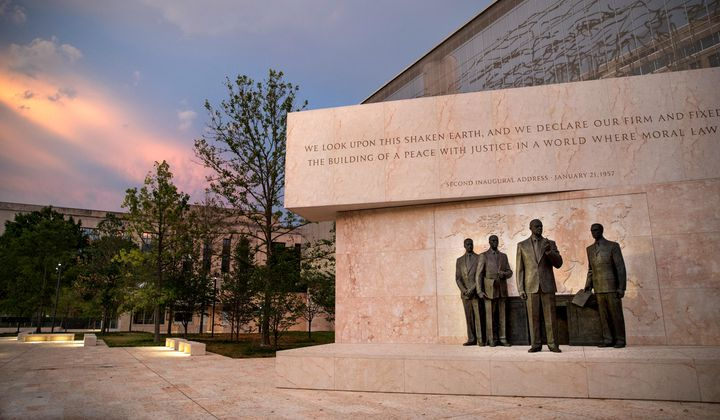 Controversial Eisenhower Memorial Makes Its Debut