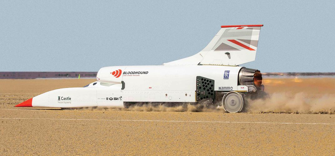 Caption:  800 MPH in a Jet-Powered Car