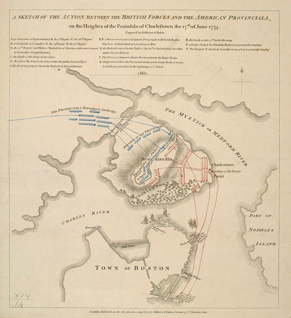 A sketch of the action between the British forces and the American provincials - Bunker Hill
