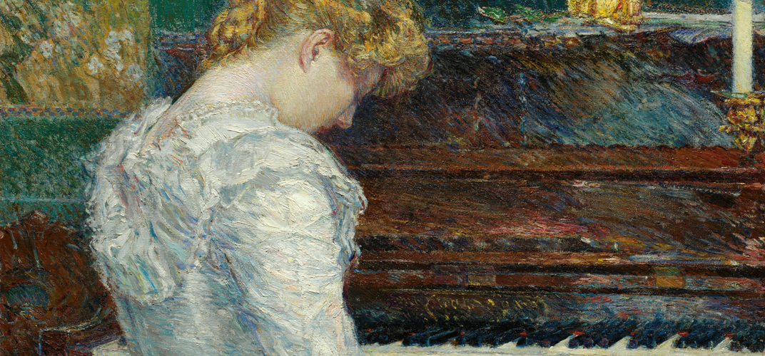 Childe Hassam (1859-1935), <i>The Sonata</i>, dated 1893, gift of Mr. and Mrs. Joseph S. Atha. Credit: Nelson Atkins Museum of Art