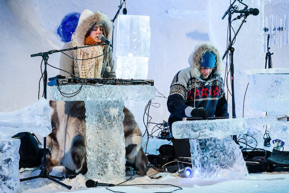 517d802e Lena Willemark and Hilmar Jesson performing (Emile Holba). This year's Ice  Music Festival ...
