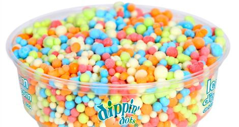 """Rainbow Ice"" is a top selling flavor for Dippin' Dots."