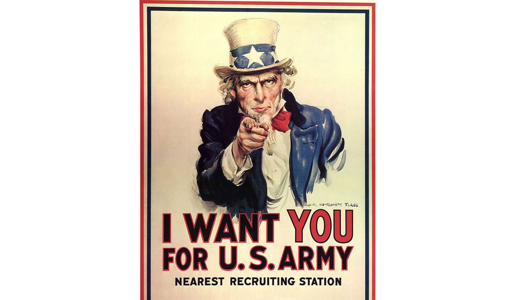 The iconic Uncle Sam poster that some say resembles 19th-century clown Dan Rice.