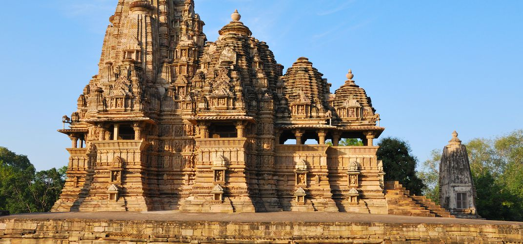 Detail of the Khajuraho Temple, a World Heritage site