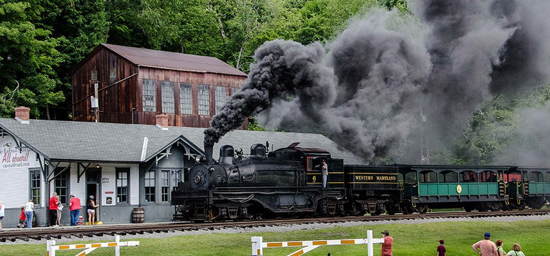 The Cass Scenic Railroad train depot.  Credit: Alan Kolnik