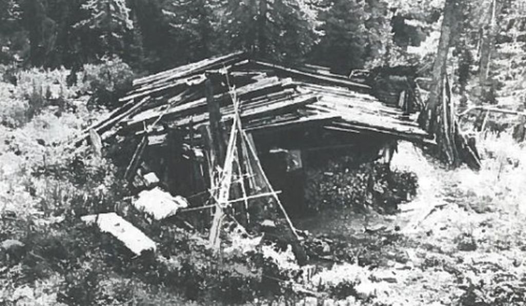 "The Lykovs lived in this hand-built log cabin, lit by a single window ""the size of a backpack pocket"" and warmed by a smoky wood-fired stove."
