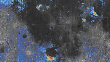 Water May Lurk Beneath the Moon's Surface