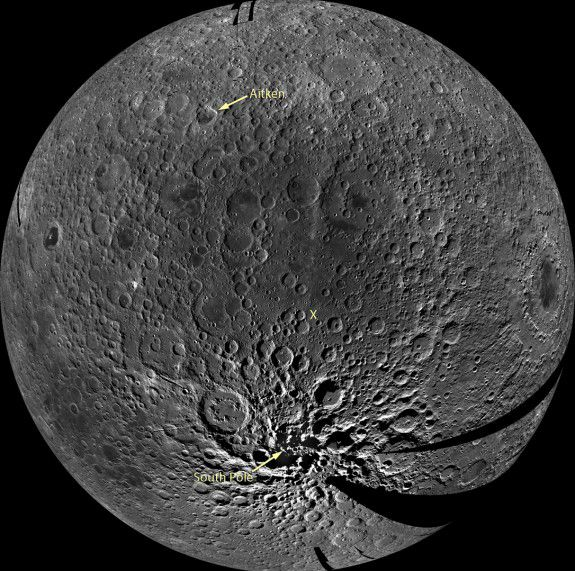 The Moon's South pole