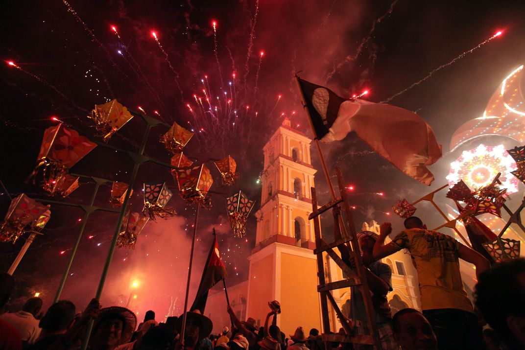 people launch fireworks during the traditional celebrations of parrandas in remedios cuba december 25 2013 alejandro ernestoepacorbis - Cuban Christmas Traditions