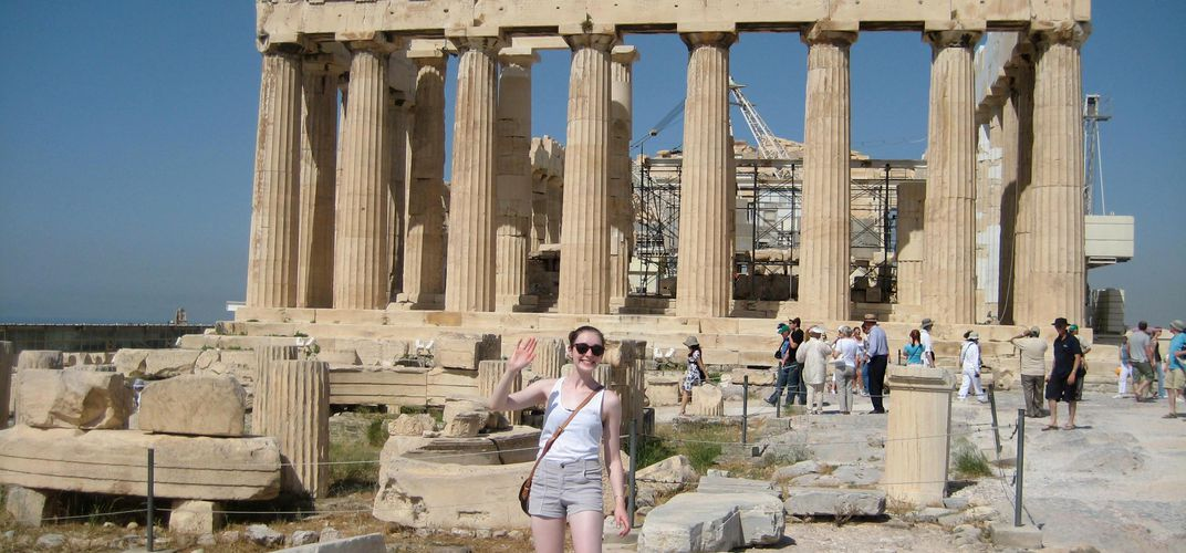 Young traveler at the Parthenon