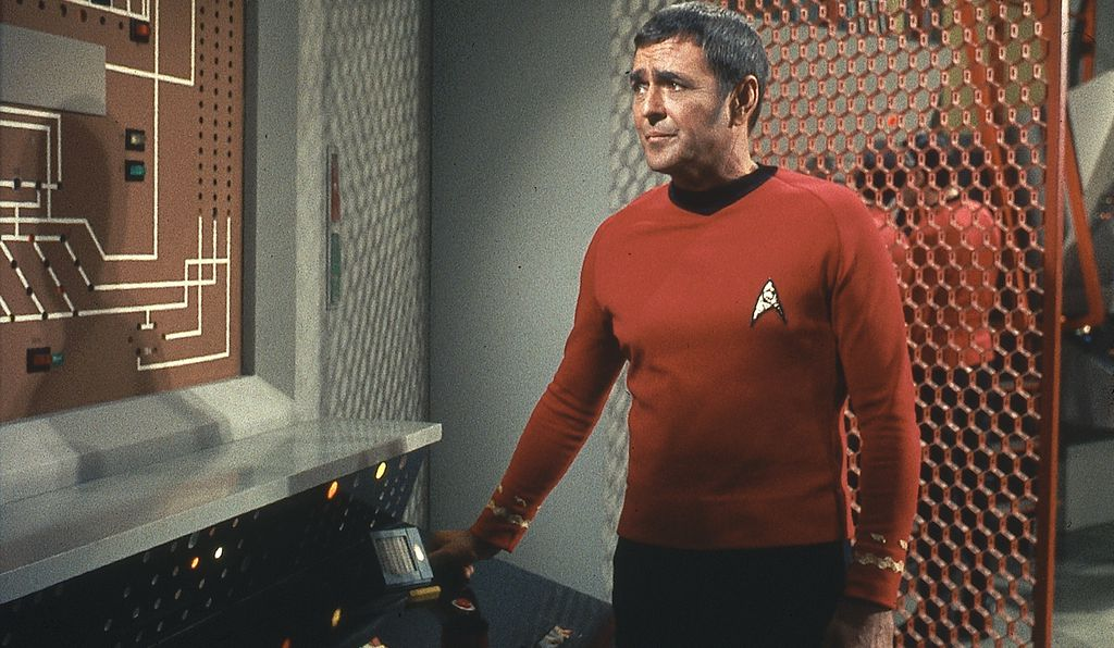 James Doohan, who originated the role of <em>Enterprise</em> Chief Engineer Montgomery