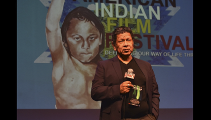 Michael Smith, founder and director of the American Indian Film Institute, at the 42nd annual American Indian Film Festival. November 2017, San Francisco. (Courtesy of the American Indian Film Festival)