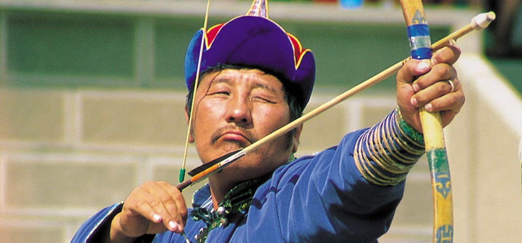 Archer at the Naadam Festival, Mongolia.  Credit: Barbara York