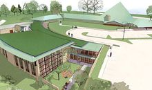 Rendering of the old Meeting House and the green addition