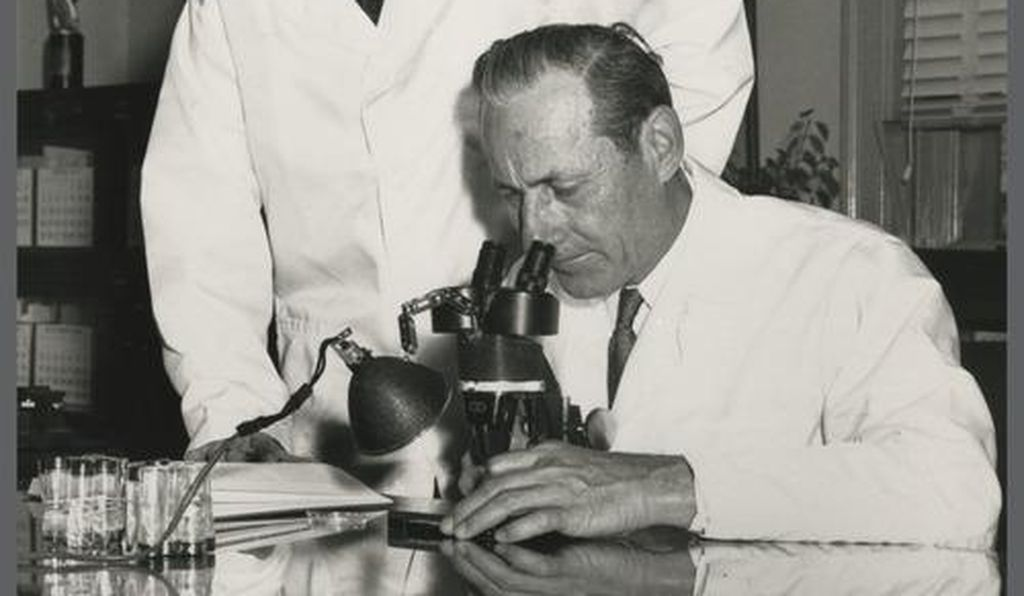 Entomologists Edward F. Knipling and Raymond C. Bushland, whose much maligned screwworm research led to the eradication of the agricultural pest