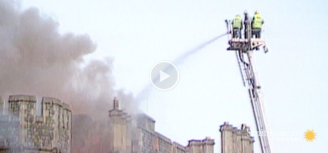 Caption: The Fire That Left Windsor Castle in Shambles
