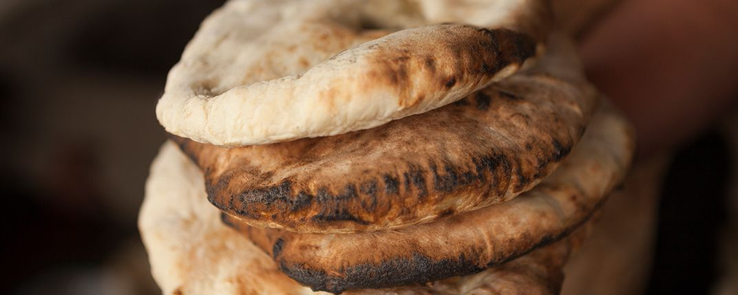 Homemade Armenian bread