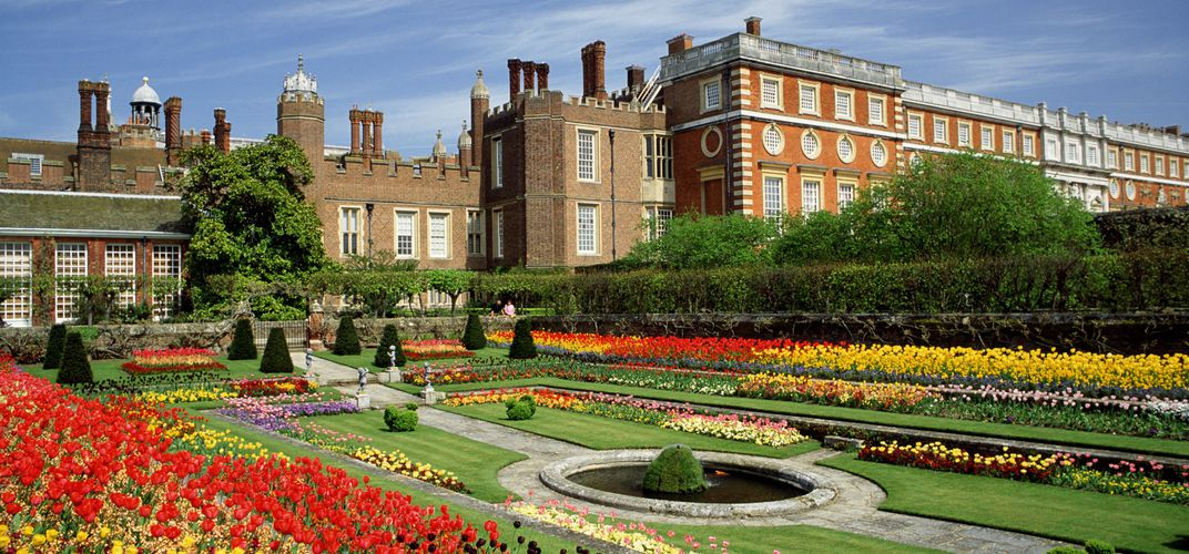 Historic Hampton Court, outside London