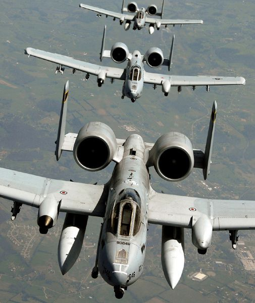 A trio of A-10s heads for a new home in Arkansas.