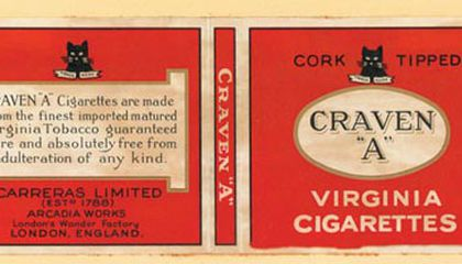 The eye-catching cigarette packages in Johnsons collection