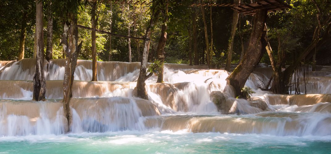 The relaxing waters of Tad Sae Waterfall, near Luang Prabang