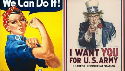 Rosie the Riveter and Uncle Sam: Two Portraits, Two Methods of Persuasion
