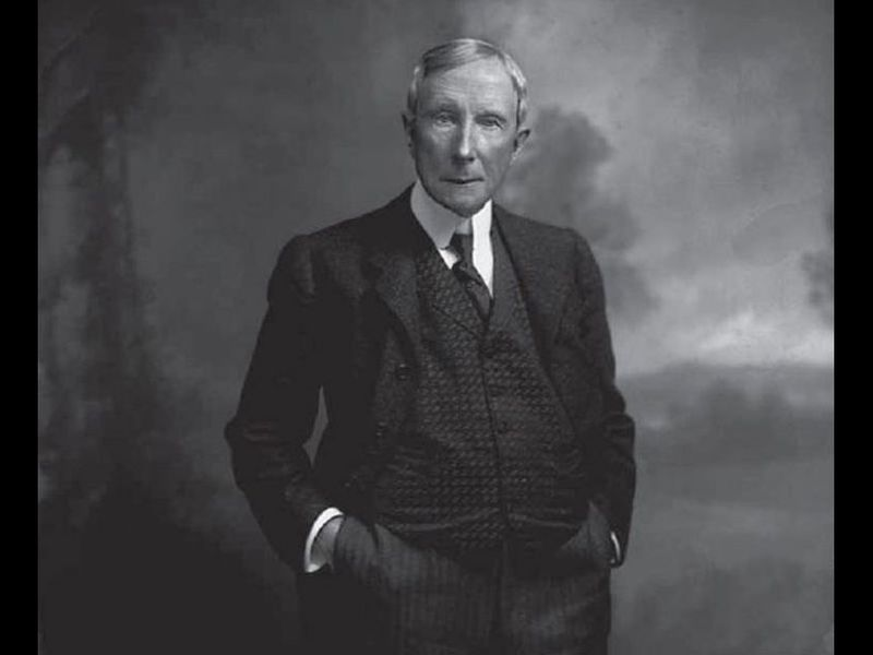 john d rockefeller was the richest person to ever live period  john d rockefeller by oscar white c1900 14751567818 jpg ""