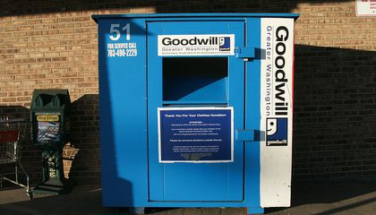 "Fake Clothing Drop Bins Use Your ""Charity"" Donations To Make a Profit"