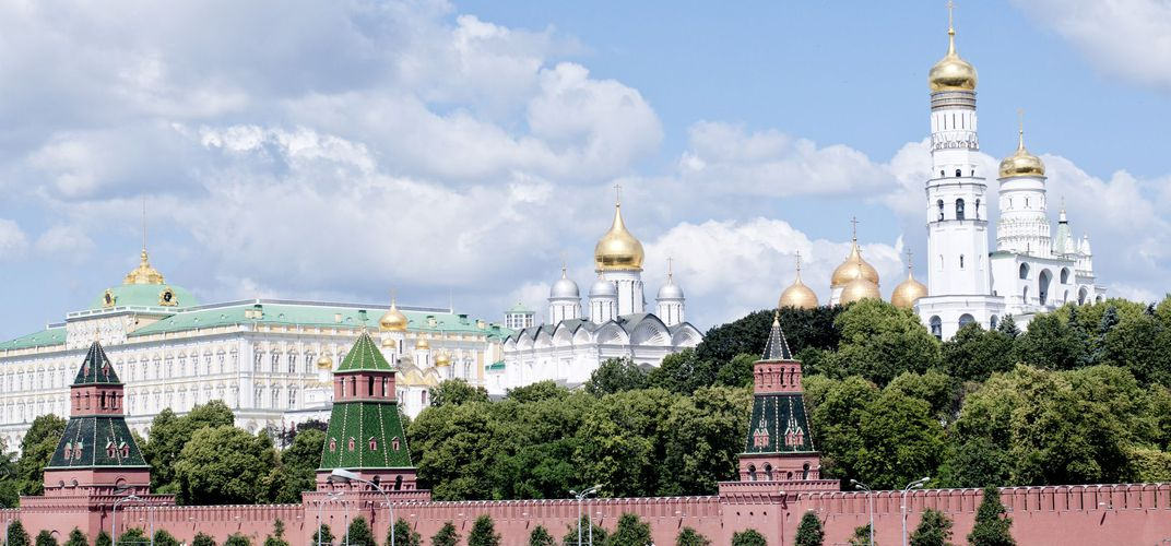 The Moscow Kremlin with its many cathedrals