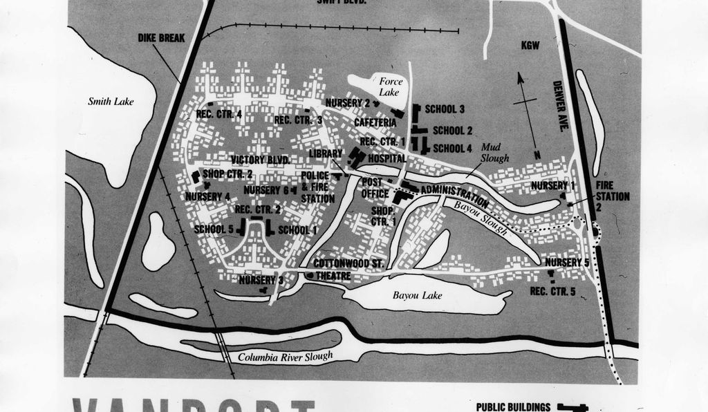 Map of Vanport. Oregon Historical Society, Neg. OrHi 94480.