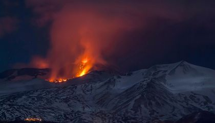 High-Pressure Pockets Cause Fiery Blast at Mount Etna