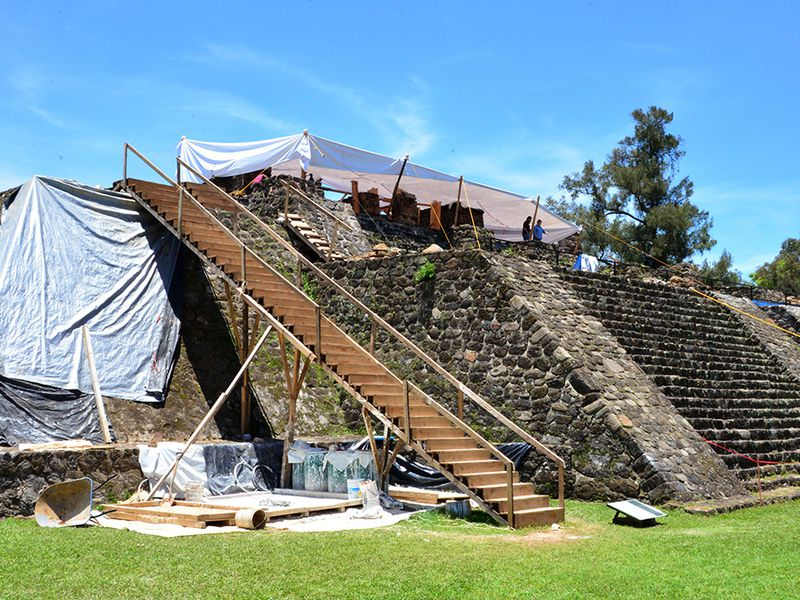 earthquake reveals 12th century temple hidden within aztec pyramid