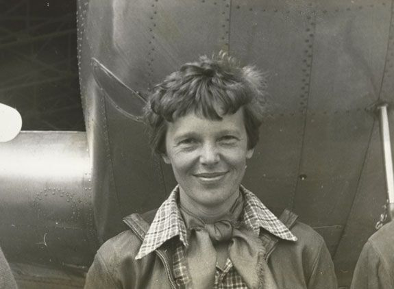 One of the last photographs taken of Amelia Earhart