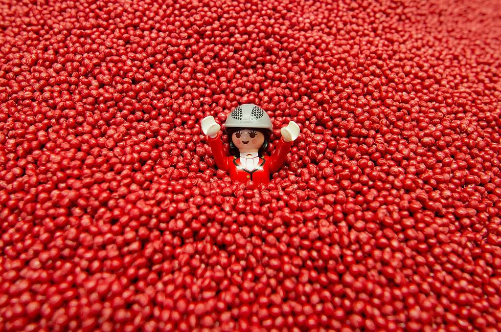 Playmobil figure in plastic granules.jpg