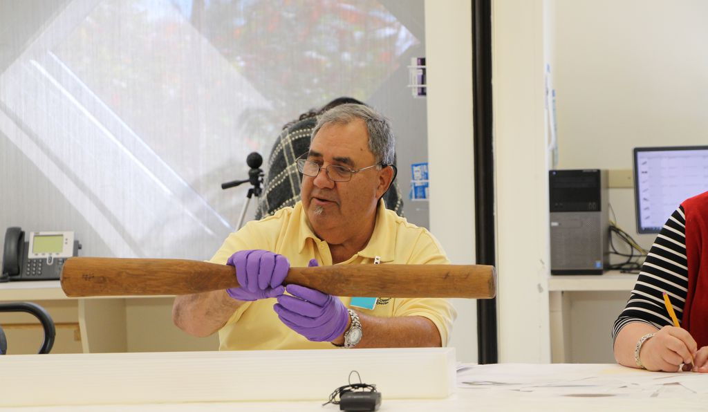 "Looking at a pestle made of cypress held in the Smithsonian collections, deputy chief Wenceslaus Billiot Jr later commented: ""I would never have imagined they had so much stuff."""