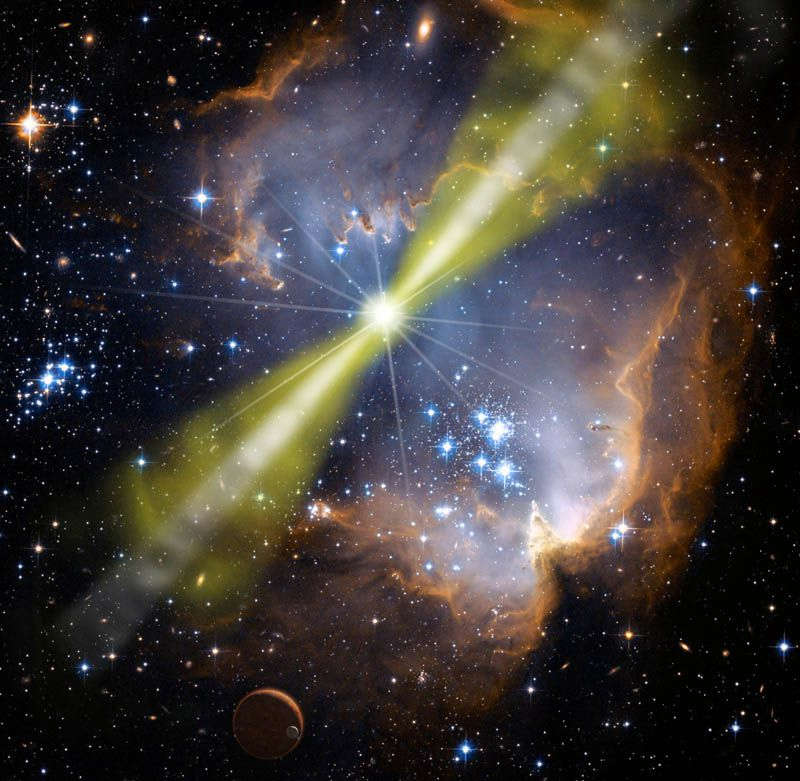 Astronomers Detect Record-Breaking Gamma Ray Bursts From Colossal Explosion in Space