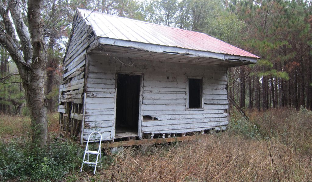 The Point of Pines cabin was built in 1853, before the Civil War, and people continued to live in it over a century after it ended.