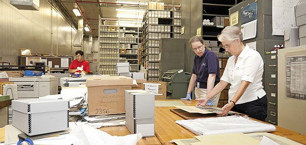 Fifty-four truckloads of manuscripts, film, and more